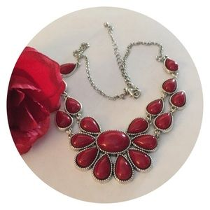 🆕🌹Stunning Indian Red Necklace